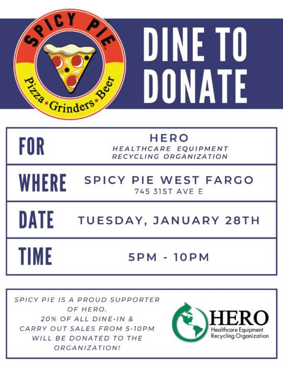 Dine to Donate at West Fargo Spicy Pie